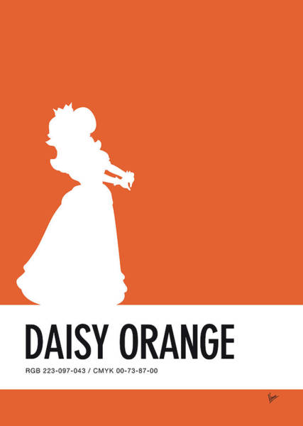 Wall Art - Digital Art - No35 My Minimal Color Code Poster Princess Daisy by Chungkong Art