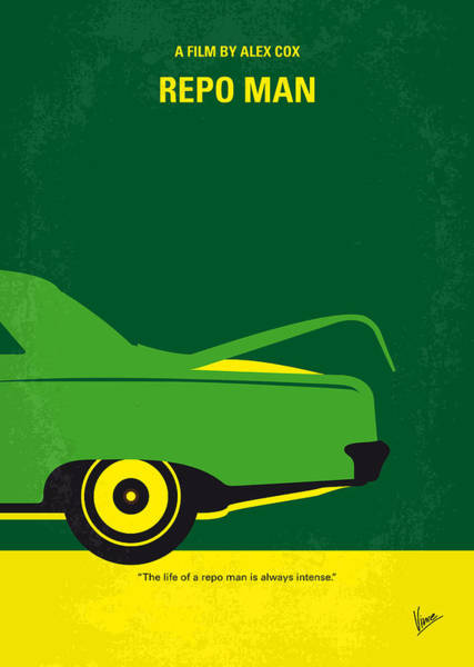 Wall Art - Digital Art - No478 My Repo Man Minimal Movie Poster by Chungkong Art