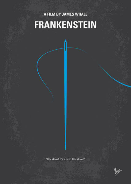 Animation Wall Art - Digital Art - No483 My Frankenstein Minimal Movie Poster by Chungkong Art