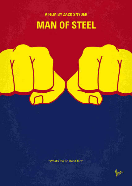 Wall Art - Digital Art - No447 My Men Of Steel Minimal Movie Poster by Chungkong Art