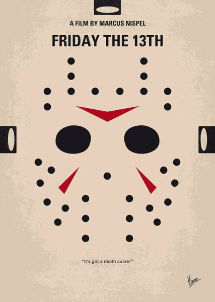 Mask Digital Art - No449 My Friday The 13th Minimal Movie Poster by Chungkong Art