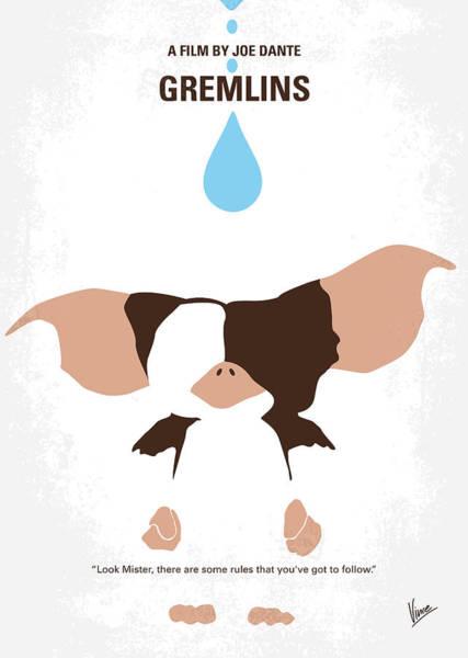 Alternative Comedy Digital Art - No451 My Gremlins Minimal Movie Poster by Chungkong Art