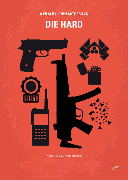 Wall Art - Digital Art - No453 My Die Hard Minimal Movie Poster by Chungkong Art