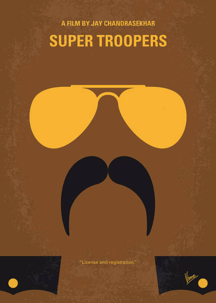 Wall Art - Digital Art - No459 My Super Troopers Minimal Movie Poster by Chungkong Art
