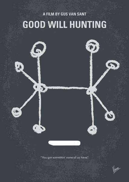 Simple Digital Art - No461 My Good Will Hunting Minimal Movie Poster by Chungkong Art
