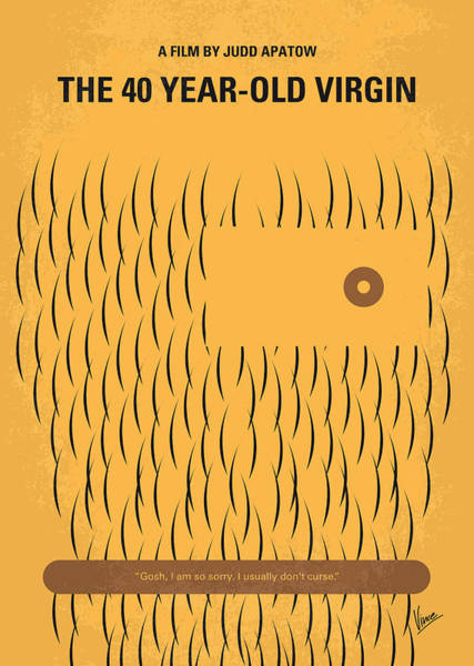 Old Digital Art - No465 My The 40 Year Old Virgin Minimal Movie Poster by Chungkong Art