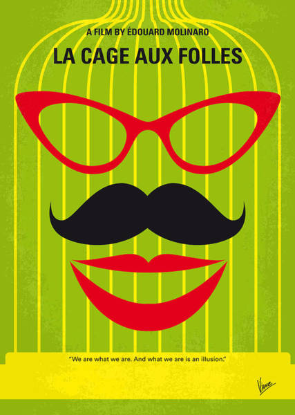 Miami Digital Art - No473 My La Cage Aux Folles Minimal Movie Poster by Chungkong Art