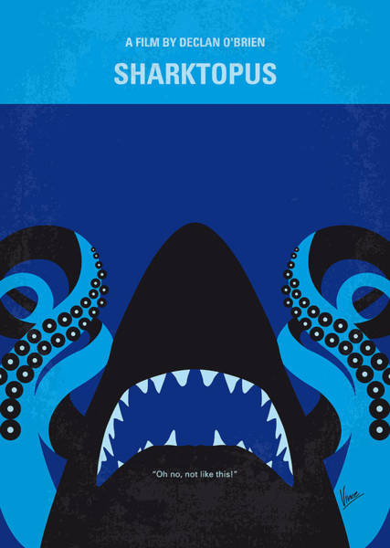 Wall Art - Digital Art - No485 My Sharktopus Minimal Movie Poster by Chungkong Art