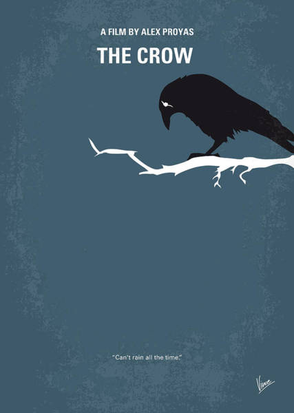 Legend Digital Art - No488 My The Crow Minimal Movie Poster by Chungkong Art