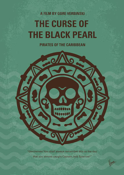 Caribbean Wall Art - Digital Art - No494-1 My Pirates Of The Caribbean I Minimal Movie Poster by Chungkong Art