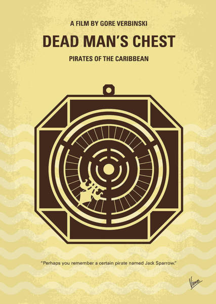Caribbean Wall Art - Digital Art - No494-2 My Pirates Of The Caribbean II Minimal Movie Poster by Chungkong Art