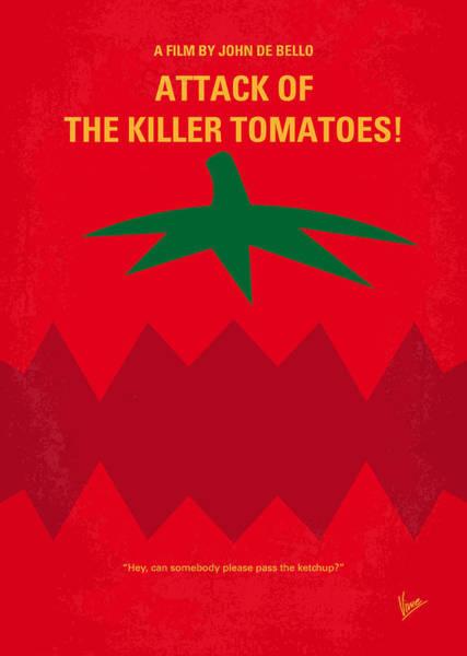 Eat Wall Art - Digital Art - No499 My Attack Of The Killer Tomatoes Minimal Movie Poster by Chungkong Art