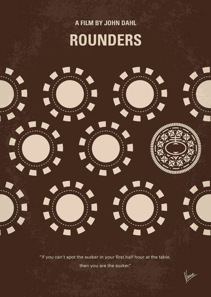 Wall Art - Digital Art - No503 My Rounders Minimal Movie Poster by Chungkong Art