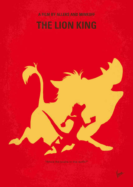 Wall Art - Digital Art - No512 My The Lion King Minimal Movie Poster by Chungkong Art