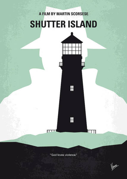 50s Wall Art - Digital Art - No513 My Shutter Island Minimal Movie Poster by Chungkong Art
