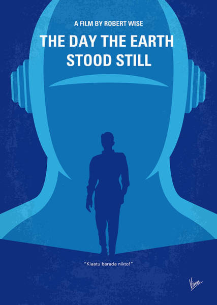 Spacecraft Wall Art - Digital Art - No514 My The Day The Earth Stood Still Minimal Movie Poster by Chungkong Art