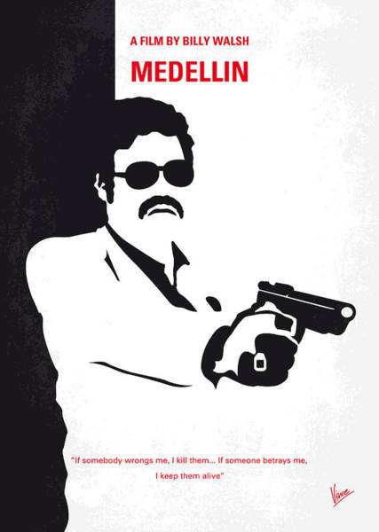 South America Digital Art - No526 My Medellin Minimal Movie Poster by Chungkong Art