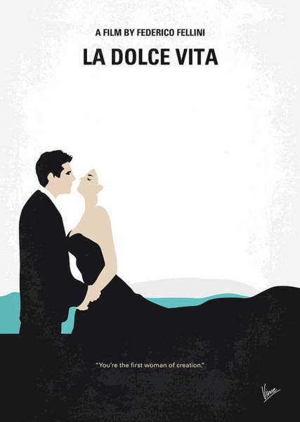 Italian Wall Art - Digital Art - No529 My La Dolce Vita Minimal Movie Poster by Chungkong Art
