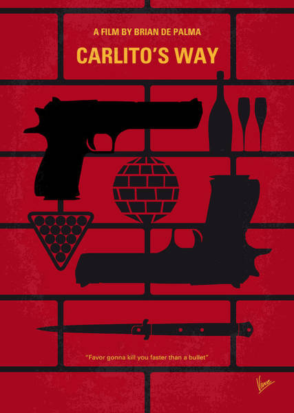 Way Wall Art - Digital Art - No530 My Carlitos Way Minimal Movie Poster by Chungkong Art