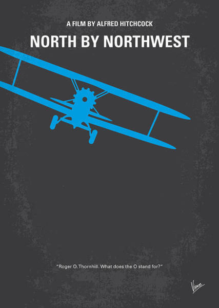 Mt Wall Art - Digital Art - No535 My North By Northwest Minimal Movie Poster by Chungkong Art