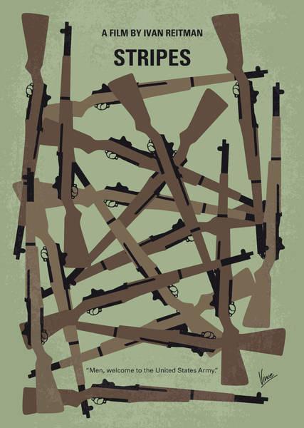 Wall Art - Digital Art - No542 My Stripes Minimal Movie Poster by Chungkong Art
