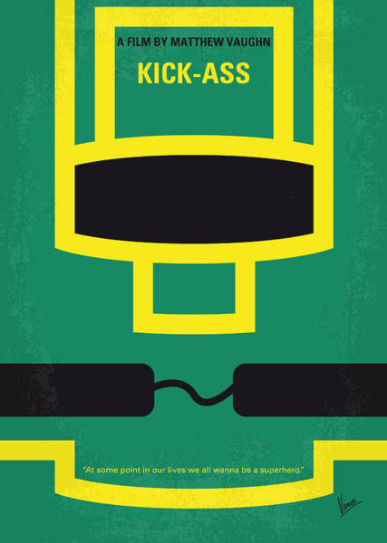 Comics Digital Art - No544 My Kick-ass Minimal Movie Poster by Chungkong Art
