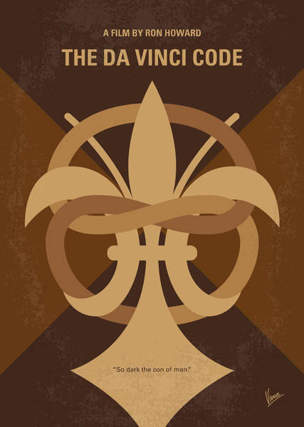 Wall Art - Digital Art - No548 My Da Vinci Code Minimal Movie Poster by Chungkong Art