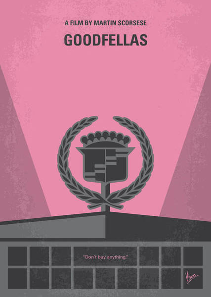 Wall Art - Digital Art - No549 My Goodfellas Minimal Movie Poster by Chungkong Art