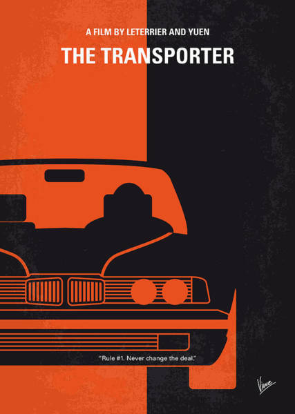 No One Wall Art - Digital Art - No552 My The Transporter Minimal Movie Poster by Chungkong Art
