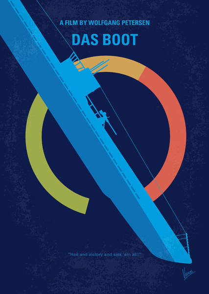 Battle Of The Atlantic Wall Art - Digital Art - No553 My Das Boot Minimal Movie Poster by Chungkong Art