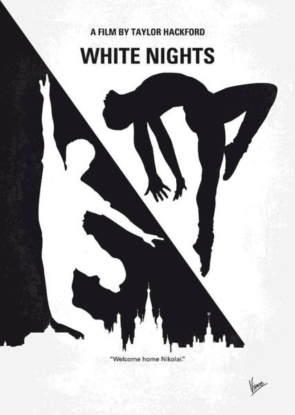 No554 My White Nights Minimal Movie Poster Art Print
