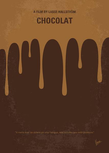Shops Digital Art - No567 My Chocolat Minimal Movie Poster by Chungkong Art