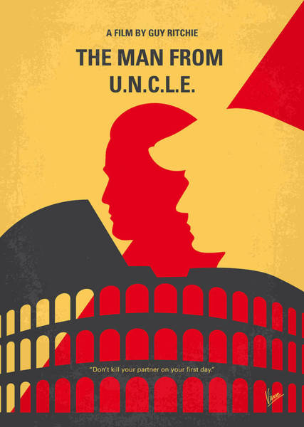 1960s Digital Art - No572 My Man From Uncle Minimal Movie Poster by Chungkong Art