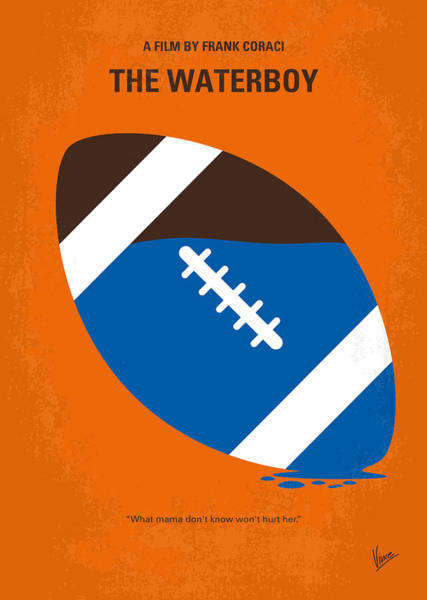 Football Players Wall Art - Digital Art - No580 My The Waterboy Minimal Movie Poster by Chungkong Art