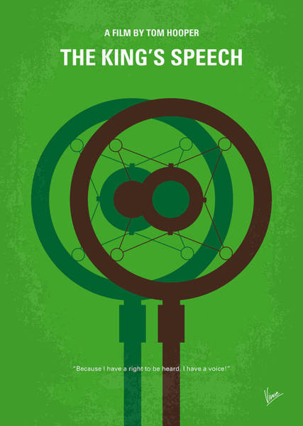 Wall Art - Digital Art - No587 My The Kings Speech Minimal Movie Poster by Chungkong Art