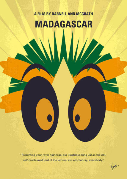 Wall Art - Digital Art - No589 My Madagascar Minimal Movie Poster by Chungkong Art