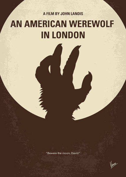 Bite Wall Art - Digital Art - No593 My American Werewolf In London Minimal Movie Poster by Chungkong Art