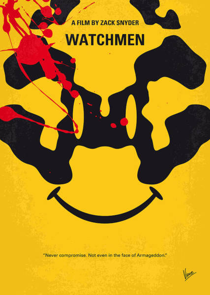 Wall Art - Digital Art - No599 My Watchmen Minimal Movie Poster by Chungkong Art