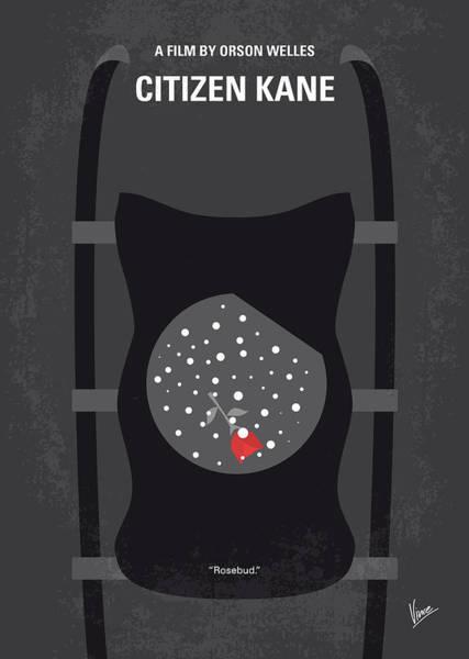 Charles Wall Art - Digital Art - No605 My Citizen Kane Minimal Movie Poster by Chungkong Art