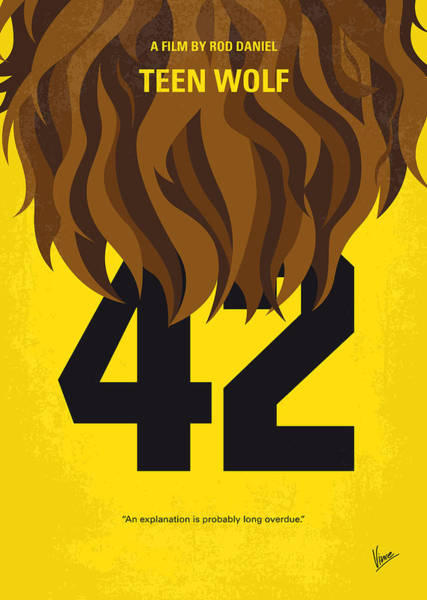 Foxes Digital Art - No607 My Teen Wolf Minimal Movie Poster by Chungkong Art