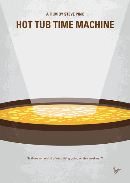 Machines Digital Art - No612 My Hot Tub Time Machine Minimal Movie Poster by Chungkong Art