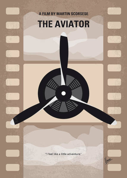 Wall Art - Digital Art - No618 My The Aviator Minimal Movie Poster by Chungkong Art