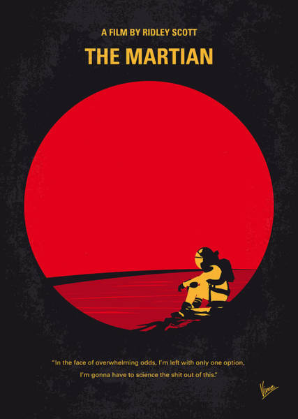 Nasa Wall Art - Digital Art - No620 My The Martian Minimal Movie Poster by Chungkong Art