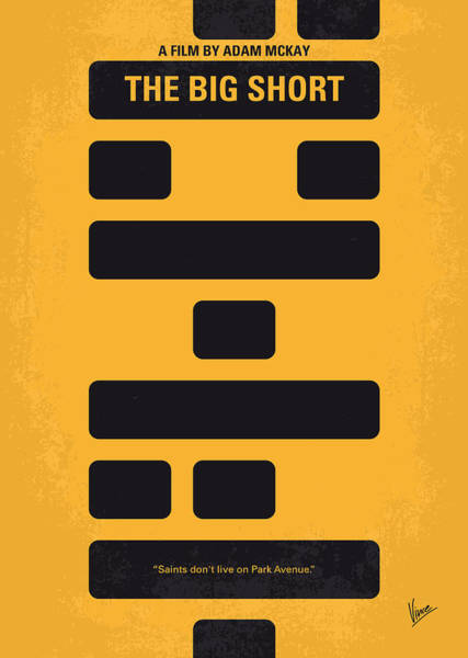 Financial Crisis Wall Art - Digital Art - No622 My The Big Short Minimal Movie Poster by Chungkong Art