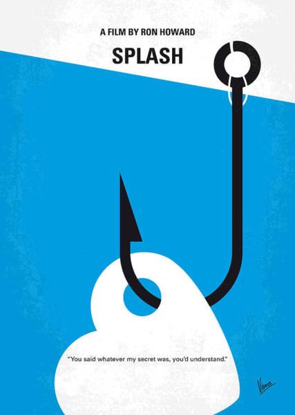 Splash Digital Art - No625 My Splash Minimal Movie Poster by Chungkong Art
