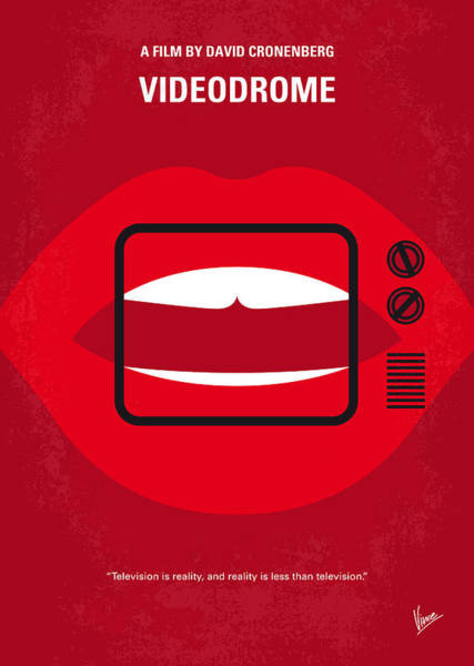 Cable Digital Art - No626 My Videodrome Minimal Movie Poster by Chungkong Art