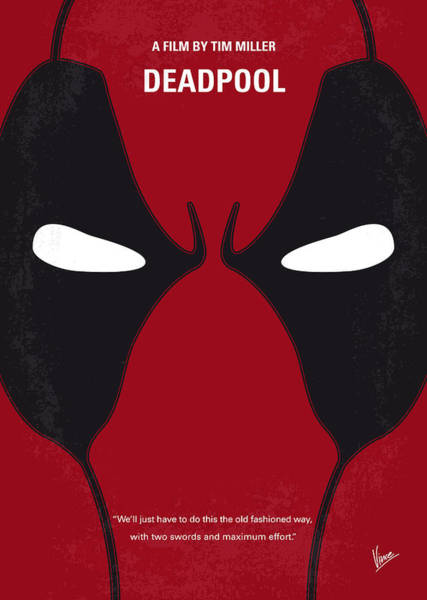 Wall Art - Digital Art - No639 My Deadpool Minimal Movie Poster by Chungkong Art
