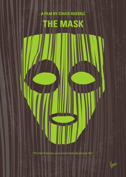 Mask Digital Art - No647 My The Mask Minimal Movie Poster by Chungkong Art