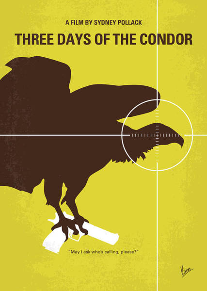 Wall Art - Digital Art - No659 My Three Days Of The Condor Minimal Movie Poster by Chungkong Art