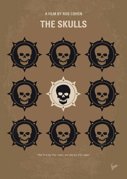 Law School Wall Art - Digital Art - No662 My The Skulls Minimal Movie Poster by Chungkong Art